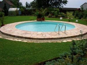 Rundbecken FUN von Future Pool mit eloxiertem Aluhandlauf, Folie sand (Rundbecken FUN, Folienstärke 0,8 mm: 300 x 120 cm, 8 m³)
