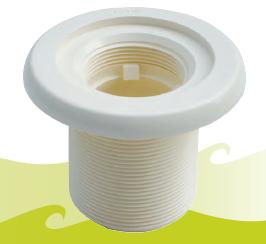 Grundelement für Beckenwanddurchführung UniSet (Grundelement zur Beckenwanddurchführung UniSet, Nr. / Farbe/Anschluss/Länge: 362441/ signalweiß / 50 mm/40mm)