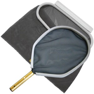 Kescher Goldline für die Beckenreinigung (Goldline: Laubkescher flach 36 x 35 cm)