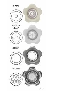 Kugeleinströmdüse UniSet (Zubehör UniSet : Kugeleinströmdüse 8 mm ABS Signalweiß)