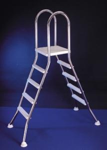 Hochbeckenleiter für Aufstellschwimmbecken (Hochbeckenleiter: E120 für Beckenhöhe 120 cm)