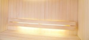 Exclusive LED-Lichtleisten für die Sauna (Lichtleiste: 380 mm)