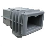 MTS V20 Skimmer, für Folienbecken mit hohem Wasserstand (Skimmer MTS V20 für Folienbecken mit flachem Wasserstand: Signalweiss)