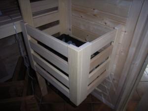 Ofenschutzgitter Abachi für Ihren Saunaofen (Ofenschutzgitter: 2-seitig)