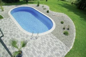 Langformbecken-Komplettset Laguna E+ von D&W Pool (Langformbecken-Komplettset LAGUNA E+: 500x300 cm , Beckentiefe 120 cm,  ca. 15 m³ Inhalt)