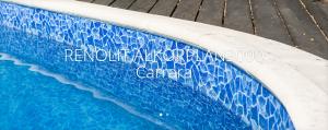Schwimmbadfolie ALKORPLAN 3000, Carrara Rest 3 lfdm (Renolit Alkorplan 3000 Carrara: Zuschnitt Breite 165 cm, Preis für 3 lfdm)