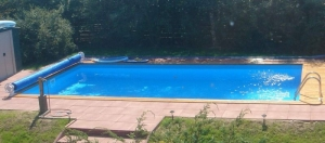 Bausätze für Power S Becken von Future Pool, Folie blau (Power S Bausätze: Rechteckbecken, 600 x 300 cm)