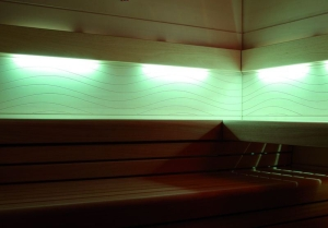 Farbige Rückenlehnenbeleuchtung für Arend Saunamodelle
