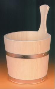 Sauna-Aufgusskübel 4 l mit Metallreifen