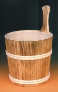Sauna-Aufgusskübel 5 l mit Holzreifen , geflammt