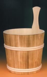 Sauna-Aufgusskübel 5 l mit Holzreifen, geflammt