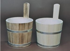 Sauna-Aufgusskübel 5 l mit verzinkten Reifen (Sauna-Aufgusskübel mit verzinkten Reifen 5 l: natur)