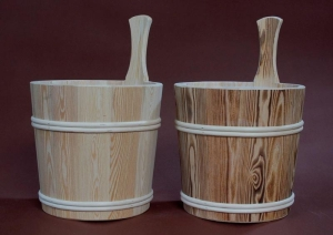 Sauna-Aufgusskübel Lärche 5 l mit Holzreifen (Sauna-Aufgusskübel Lärche 5 l mit Holzreifen: Natur)