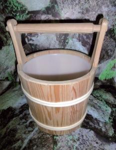 Sauna-Aufgusskübel Lärche 5 l mit Tragegriff
