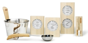 Saunazubehör Birke für Ihre Sauna (Zubehör Birke: Thermometer)