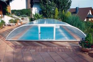 Schwimmbad-Schiebeüberdachung Elegance, Standardmaße