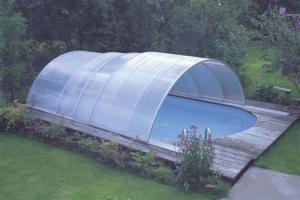 Schwimmbad-Schiebeüberdachung Classic von Future Pool