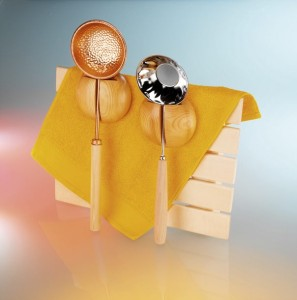 Schöpfkellen für Ihre Sauna (Schöpfkelle : aus Edelstahl)