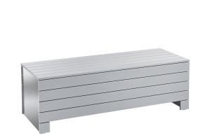 Aufrollsystem als Sitz- & Liegebank PVC grau