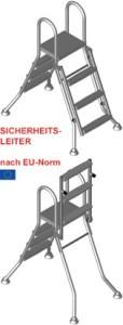 Umrüstsatz Klappsicherung für Hochbeckenleiter (Hochbeckenleiter Umrüstsatz: 3-stufig)