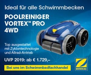 Poolreiniger Zodiac Vortex Pro 4WD
