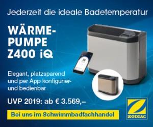 Wärmepumpe Zodiac Z400 iQ für die Poolwasserheizung