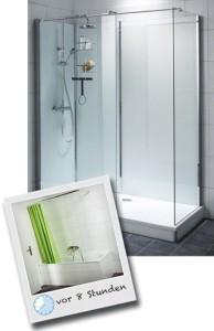 Dusche auf Wanne: Badewanne wird zur Dusche (Dusche in Wanne: Preise auf Anfrage)