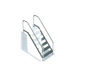 Einbauleiter Edelstahl V4A - DIN (DIN-Treppe aus V4A: 3-stufig)