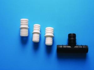 Schlauchtüllen für den Einsatz im Schwimmbadbereich (Saugschlauchdoppeltülle: 32/32 mm)