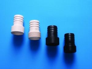 ABS Schlauchtülle (ABS Schlauchtülle: Klebestutzen D 50 - 38 mm, schwarz)