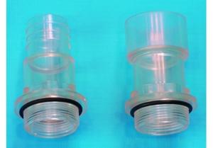 Klarsichtstrecke (ABS Schlauchtülle: D 50 mm x 1 1/2 Zoll AG)