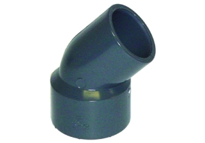 Reduzierwinkel 45°, PVC (Reduzierwinkel 45°: D 50 x 40/50 mm)