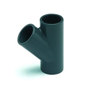 T-Stück 45°, PVC (T-Stück 90°: D 50 mm)