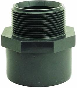 Übergangsmuffennippel, PVC (Übergangsmuffennippel: D 25/32 mm x 3/4 Zoll)