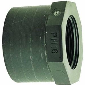 Reduktion kurz mit IG, PVC (Reduktion kurz mit IG: D 25 mm x 1/2 Zoll)