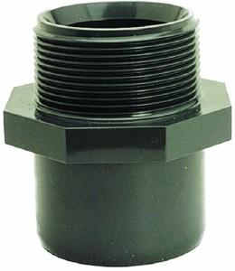 Übergangsnippel, PVC (Übergangsnippel: D 16 mm x 3/8 Zoll)