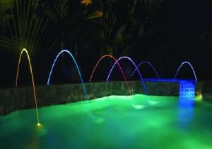 MagicStream - Wasserbögen mit LED-Lichtillumination (MagicStream: Wasserbogen Einbausatz inkl. 12 V LED-Beleuchtung (1Stk))