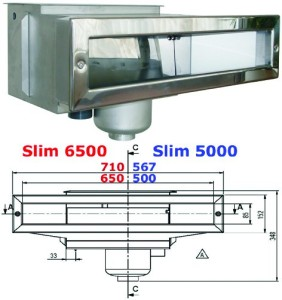 Skimmer Slim 6500 aus V4A
