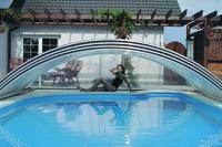 Selbstbau Schwimmbad-Schiebeüberdachung do it, Doppelsteg