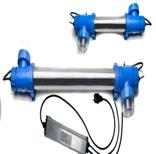 UV-Entkeimung Blue Lagoon UV-C Tech (UV-Entkeimungsgerät Blue Lagoon: UV-C 16 W bis 15 m³, max. Durchfluss 7200 l/h)