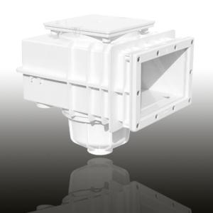 MTS V20 Skimmer, für Fertig- und Folienbecken mit Flansch (Skimmer MTS V20 für Folienbecken: Signalweiss)
