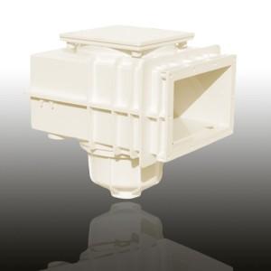 MTS V20 Skimmer, für vorgefertigte Becken (Skimmer MTS V20 für vorgefertigte Becken: Cremeweiss)
