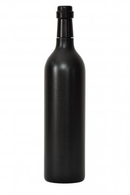 Pfeffermühle aus Holz - Weinflasche 0,75 l schwarz lackiert
