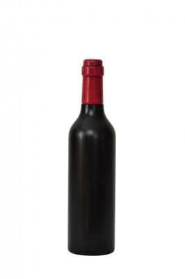 Pfeffermühle aus Holz, Weinflasche, schwarz lackiert