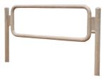 Anlehnbügel / Absperrbügel -Amrum- Ø 48 mm aus Stahl, Höhe 900 mm, zum Einbetonieren