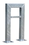 Anlehnbügel / Absperrbügel -Jena- 100 x 100 mm aus Stahl, Höhe 800 mm (Montage: zum Einbetonieren (Art.Nr.: 10943))