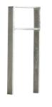 Anlehnbügel / Absperrbügel -Trier- 120 x 15 mm aus Stahl, Höhe 800 mm (Montage: zum Aufdübeln inkl. quadr. Bodenplatten (Art.Nr.: 10945))