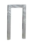 Anlehnbügel / Absperrbügel -Ulm- 80 x 40 mm aus Stahl, Höhe 800 mm (Breite/Montage: 500mm/zum Einbetonieren (Art.Nr.: 10937))