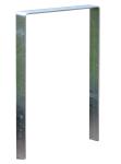 Anlehnbügel / Absperrbügel -Wolfsburg- 80 x 8 mm aus Stahl, Höhe 800 mm (Montage: zum Einbetonieren (Art.Nr.: 10948))