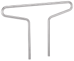 Anlehnbügel -Double- Ø 48 mm aus Stahl, Höhe 800 mm